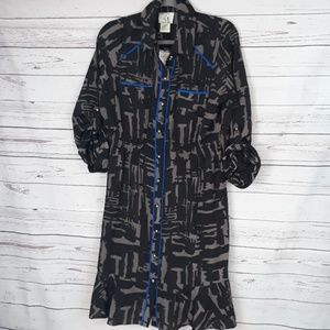 NWT size 14 button down dress 3/4 sleeve